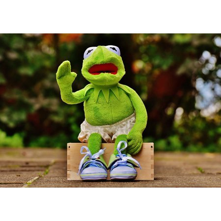 Framed Art For Your Wall Pants Bank Sit Sneakers Kermit Frog Funny Wave 10x13 Frame