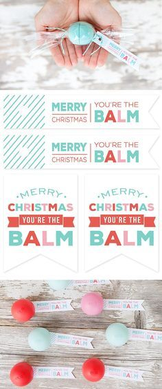 "EOS Lip Balm ""Can s"" and FREE Printable Gift Tags Simple and inexpensive Christmas"