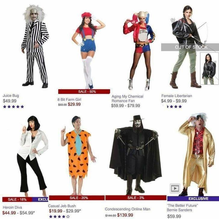 Unlicensed Halloween costume names