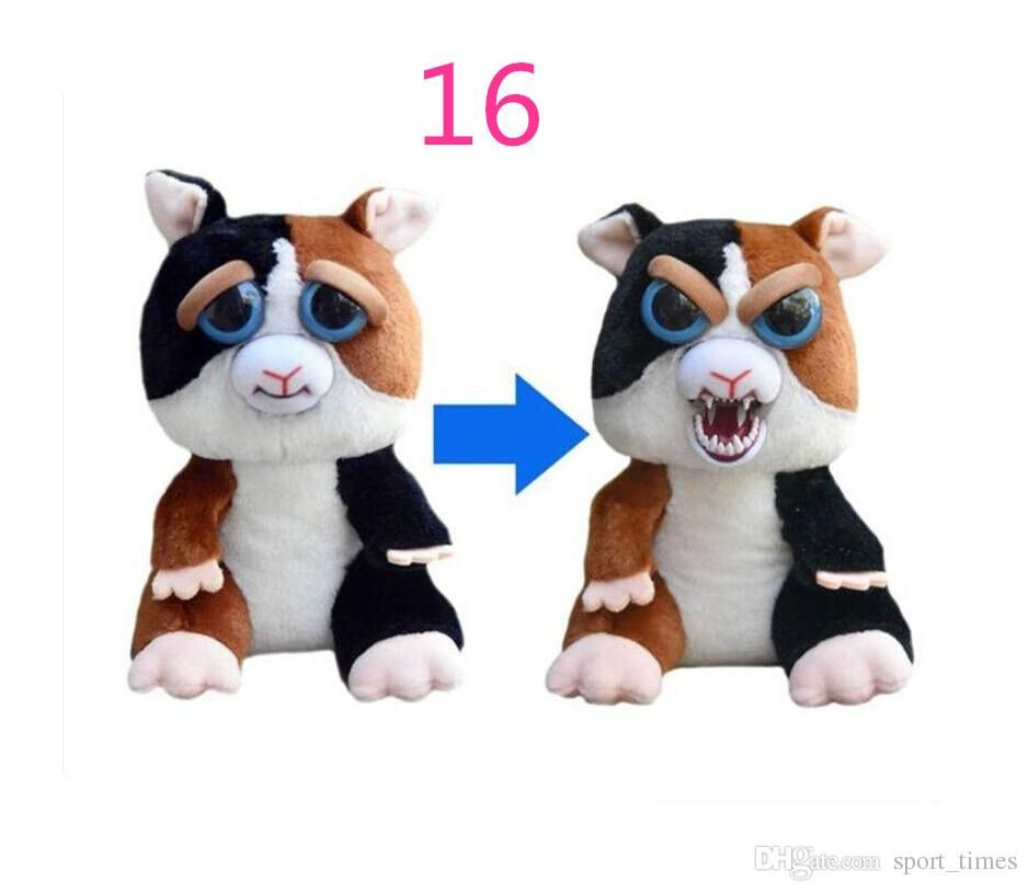 Feisty Pets Plush Toys Kids Christmas Gift Big Eyes Dog Panda Cat Monkey Change Face Stuffed
