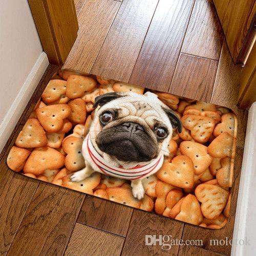 Funny Front Entrance Mat 3D Cat Dog Animal Floor Carpet For Living Room Bedroom Tapete 40x60cm