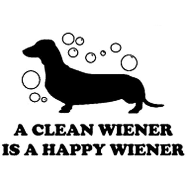 15 6CM 10 6CM Clean Dachshund Dog Weiner Hotdog Car Vinyl Sticker Funny Car Stickers