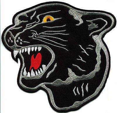3 of 5 Black Panther Cat Puma Jaguar Animal Head Applique Iron Patch Free Shipping