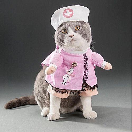 Universal Pet Dog Cat Halloween Costume Funny Cute Dress Up Suit Christmas Party Clothes Nurse XL