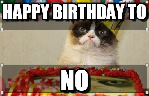 Fresh Grumpy Cat Happy Birthday Meme Funny Cat Happy Birthday