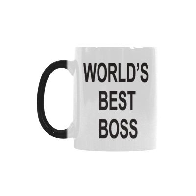 InterestPrint 11oz World s Best Boss Morphing Mug Heat Sensitive Color Changing Coffee Mug Cup with Quotes
