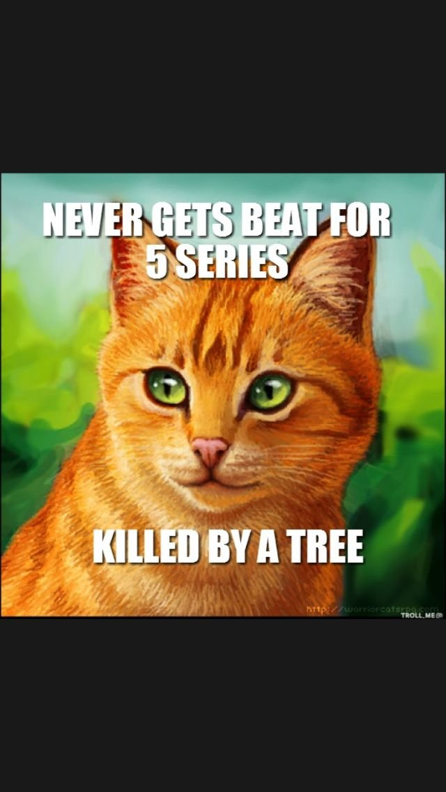 No he wasn t he was killed by Tigerstar he was dying already amd moments from when the tree fell in him but Tigerstar was what killed him not the tree