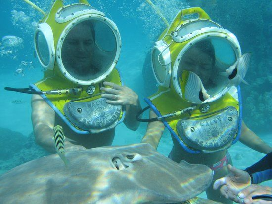 Aquablue Helmet Dive was AWESOME Review of Aquablue Moorea Classical Diving Moorea French Polynesia TripAdvisor