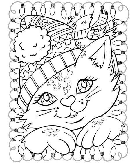 Christmas Animal Coloring Pages 20 Fresh Christmas Time
