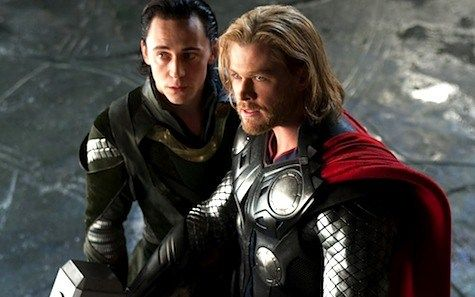 Thor Loki Tom Hiddleston Chris Hemsworth