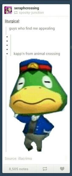 The funny and disturbing thing about this is the fact tuat in NL he has a wife Still he keeps flirting with you Kalisto Firlotte · animal crossing