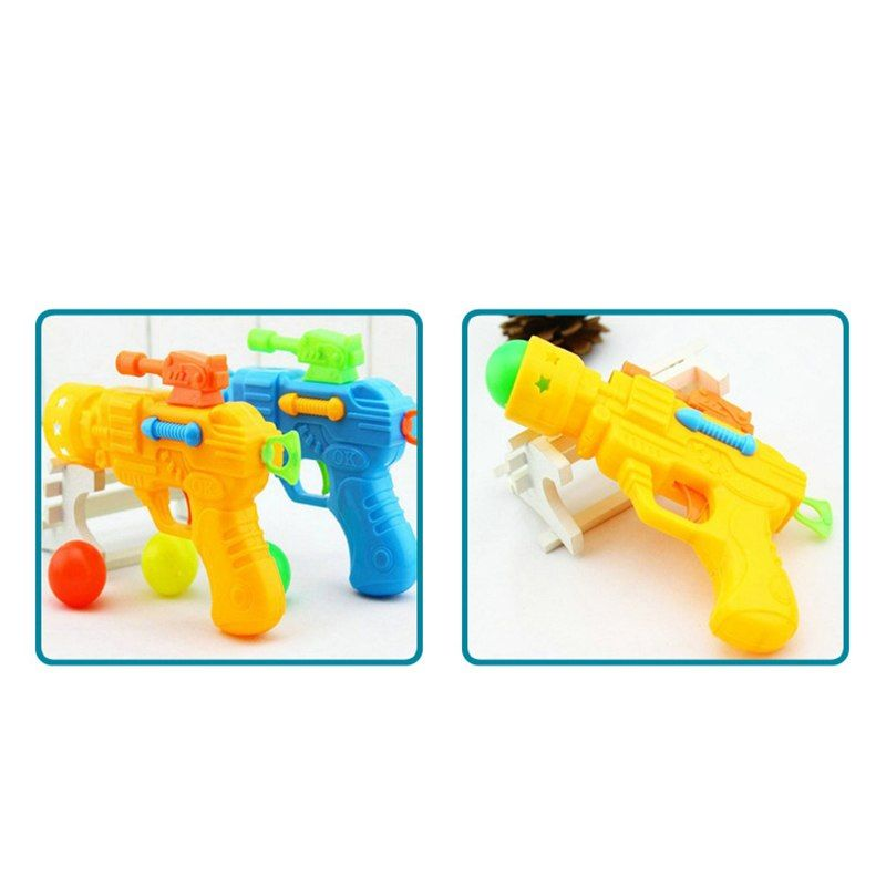 HziriP Hot Sale Children Toy Gun Funny Shooter Trick Lovely Elasticity Table Tennis Guns Plastic Launch Pistol Models Boys Toys in Toy Guns from Toys