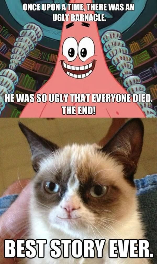 Cats Spongebob Grumpycat Quote Funny Grumpy Cat Meme Cat Memes Animal