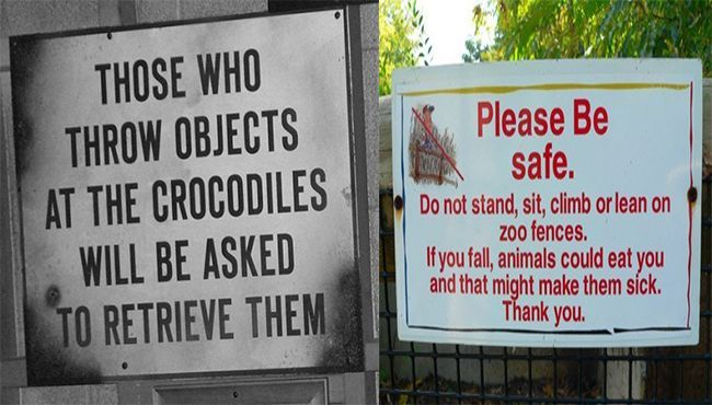19 Signs Proving Zoo Keepers Have a Great Sense Humor Zoo Keeper Funny Stuff