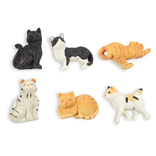Juvale Set of 6 Cat Magnets Funny Animal Refrigerator Magnets Perfect Animal Lover Gifts