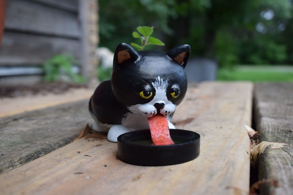 Picture of 3D Print Cute Cat Self Watering Planter