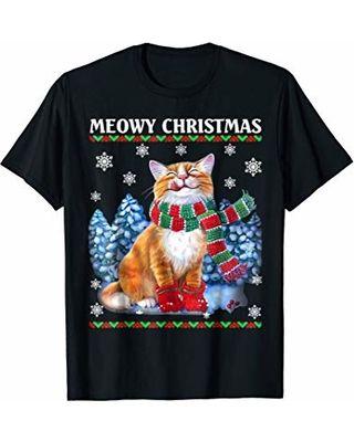 Meowy Christmas Funny Merry Catmas T shirt