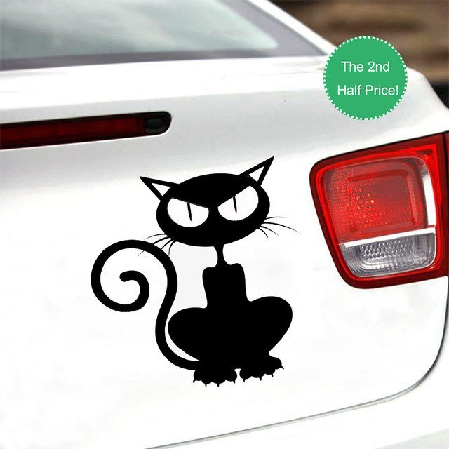 "Halloween Scary Car Sticker 3D funny Car Styling 5 9 5 9"" cute cat Halloween"