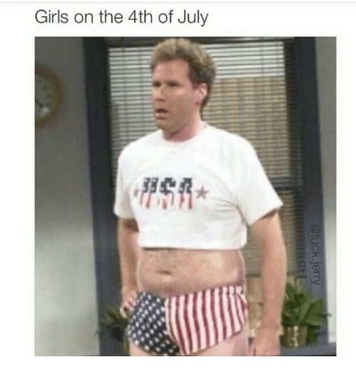 Funny Girls and 4th of July Girls on the 4th of July
