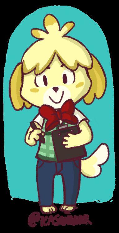 Male Isabelle Animal Crossing Fan Art Art Blog Game Art Playroom Art