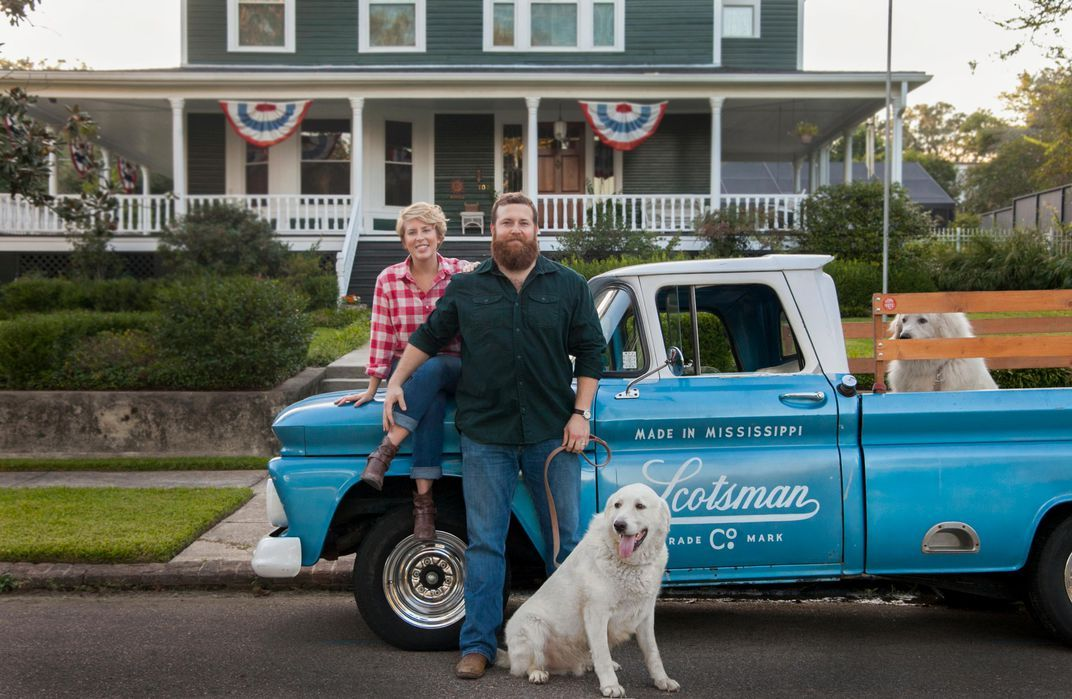 """Erin and Ben Napier from HGTV s """"Home Town"""" Bethany Byrd Laurel Main Street"""