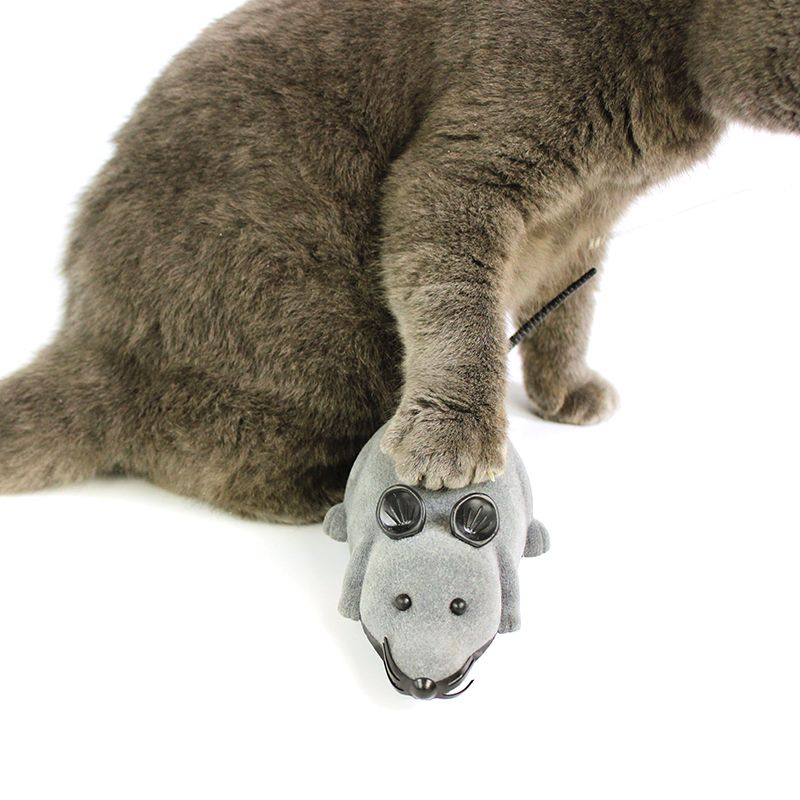 Funny cat toy mouse wireless remote control simulation plush mouse electric funny cat pet toy with remote control