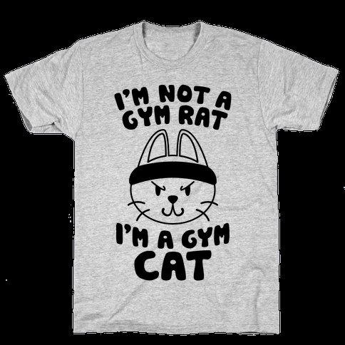 I m A Gym Cat Mens T Shirt