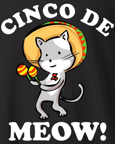 Mayo Funny Mexican Cat Kids Sweatshirt