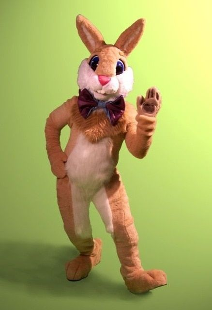 professional mascot walk around Easter bunny costume for Mall or church for party free shipping to