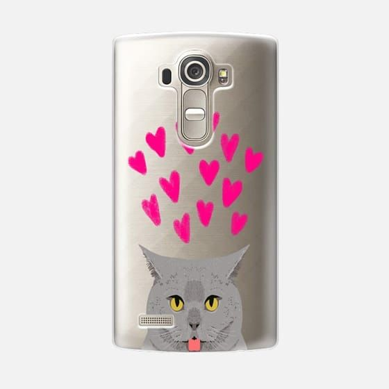 I can have cute cat phone case with grey cat funny cat meme transparent valentines day