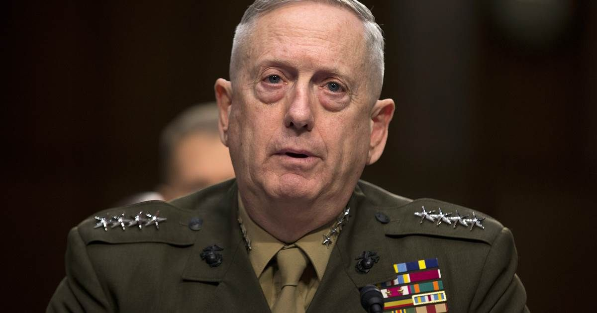 James Mad Dog Mattis as Secretary of Defense