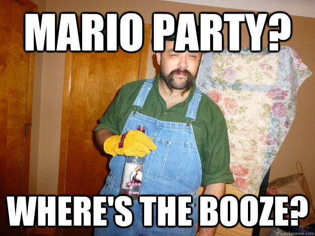 Mario Party where s the booze