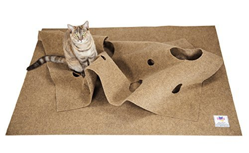 Oversized Cat Activity Play Mat Ripple Rug