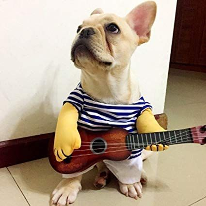 Timberlark Funny Guitar Pet Dog Cat Costume Dress Up Cosplay Clothes for Christmas Halloween Party