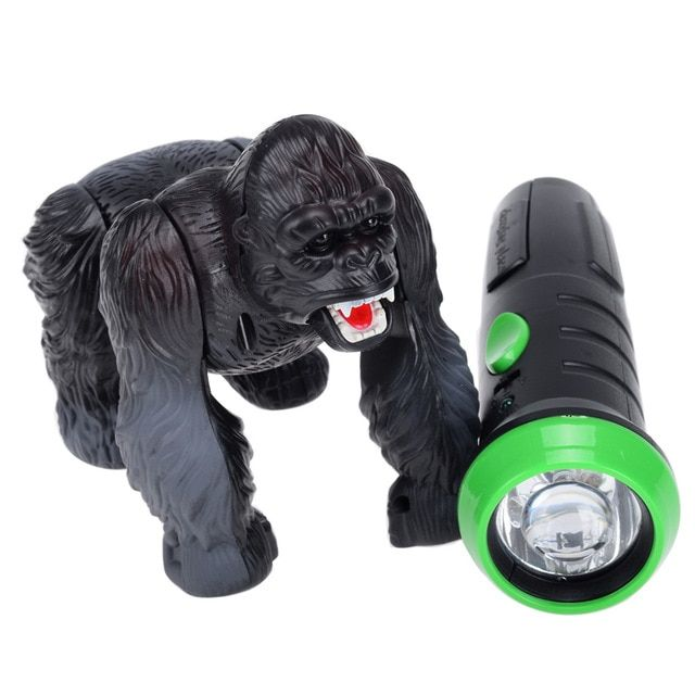 Lighting Infrared RC Gorilla Simulative Remote Control Animal Electric Toy with Sound Funny Terrifying Christmas Kids