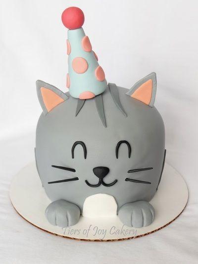 Birthday kitty cat cake
