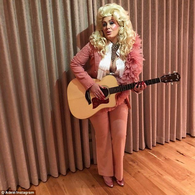 Quite a difference Adele was unrecognisable as she paid tribute to Dolly Parton by dressing