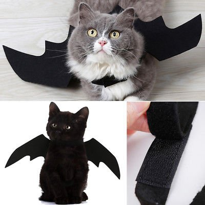 Pet Dog Cat Black Bat Wings Cosplay Wings Costume Party Halloween Decoration