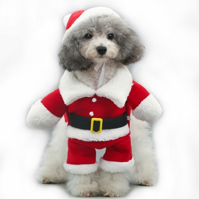 PipiFren Winter Funny Christmas Dogs Clothes Costume Chihuahua Cat Coats For Pets Halloween Clothing Yorkshire manteau