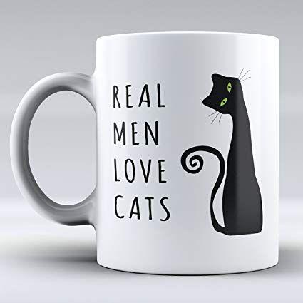 Real Men Love Cats Funny Mug Ceramic Mug Cat Tea Mug