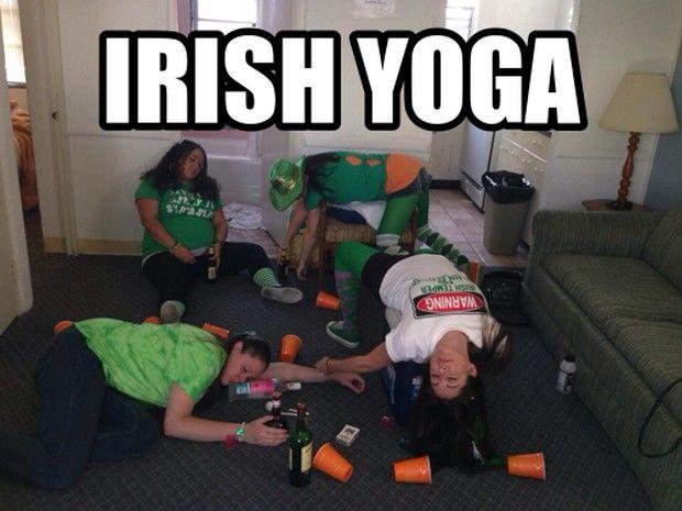 Irish Yoga Celebrating St Patricks Day with Cats Star Wars Yoga