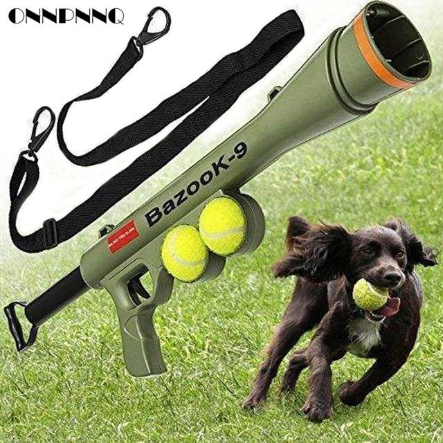 Funny Dog Tennis Ball Launch Gun for AK47 Pet Training Toy Remote Speed Agility Equipment Dog