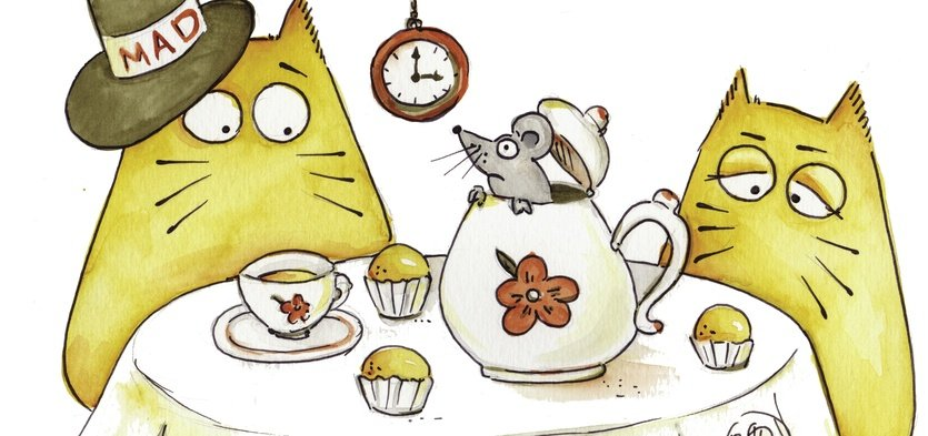 e day their owners even made a kitty cat tea party where they ate fish muffins and milk They had alot of fun especially when they put a mouse in the
