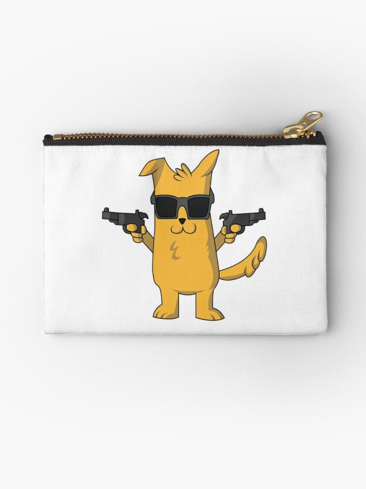 Funny Dog with Gun Cute Dog Gift for Pet Lovers by Blazesavings