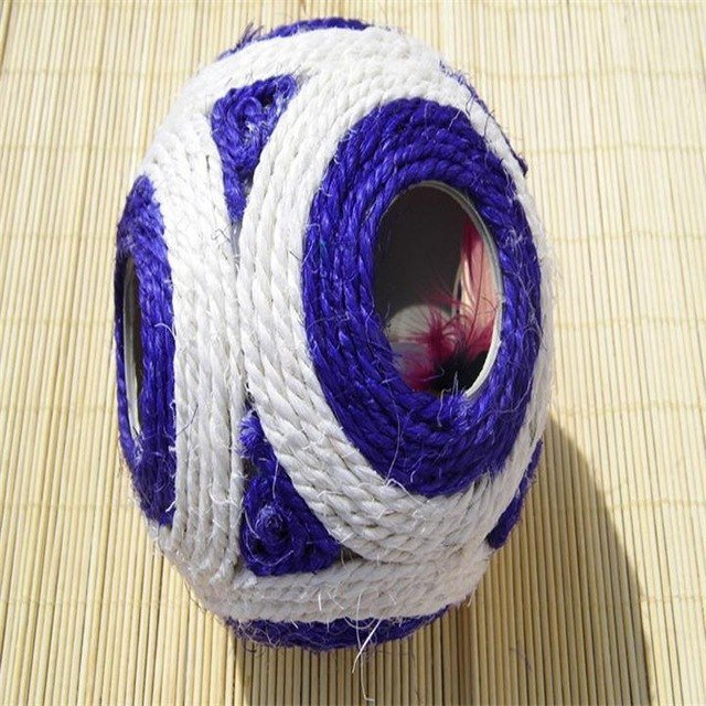 12CM Natural Sisal Cat Scratch Ball Funny Cat Rescue Pet Toys Sofas And Curtains in Your