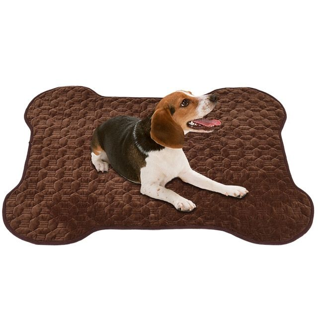 Petacc Anti slip Dirty Dog Doormat Foldable Pet Blanket Portable Pet Mat with Bone Pattern