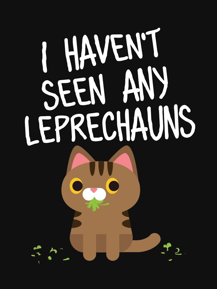 St Patricks Day Cat Lover T Shirt Leprechaun Funny Irish Tee by kh