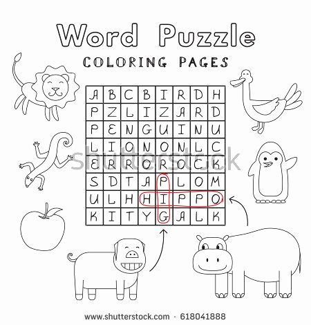 Cartoon Parrot Coloring Pages Funny Animals Word Search Puzzle Vector Stock Vector Cartoon Parrot Coloring Pages top 20 Free Printable