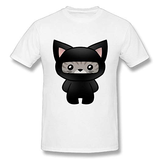 A Ninja Cat The New Smiple Stylish Funny Mens Short Sleeved Round Neck T