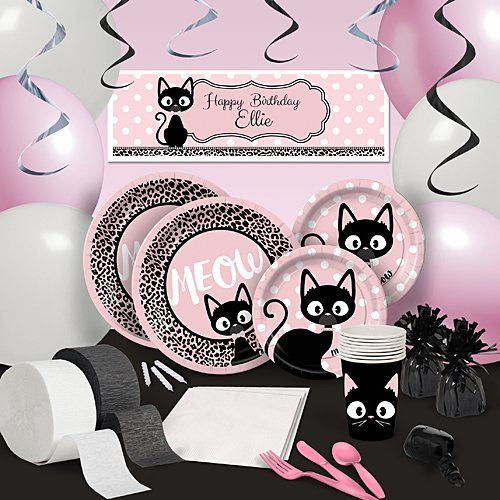 Glamour Cats Party Supplies Kitty Cat Diva Ultimate Party Pack